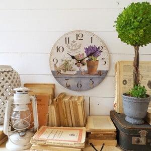 Zegar ścienny Orchidea Lavender