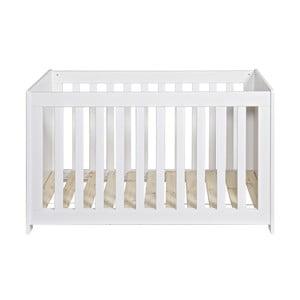 Patynowo-biała łóżeczko dziecięce New Life