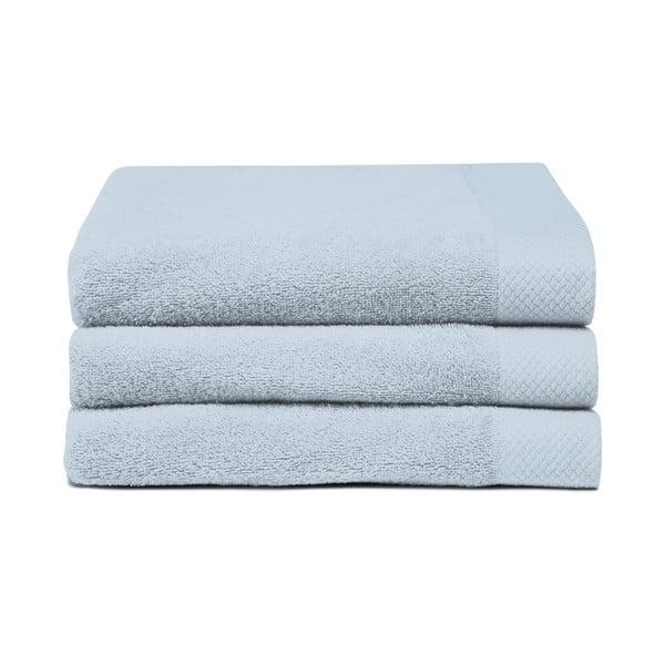 Zestaw 3 jasnoniebieskich ręczników Seahorse Pure,60x110cm