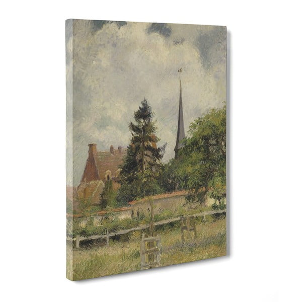Obraz The Church at Eragny - Camille Pissaro, 50x70 cm