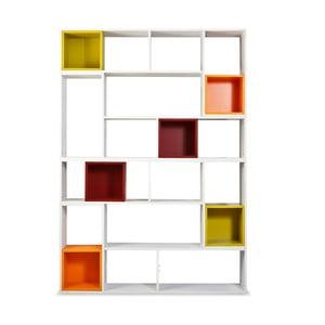 Biblioteczka Lego z kolorowymi półkami