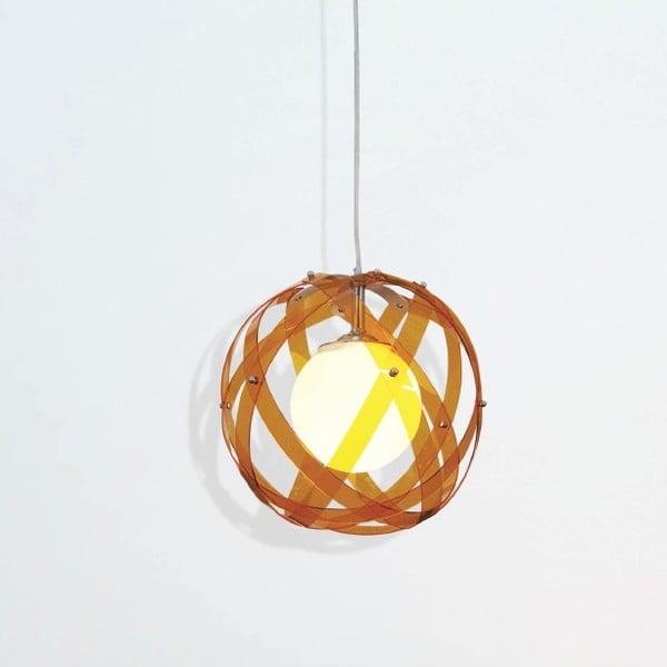 Lampa sufitowa Nefeli, pomarańczowa