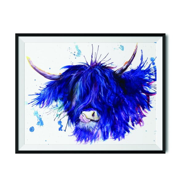 Plakat Wraptious Splatter Highland Cow