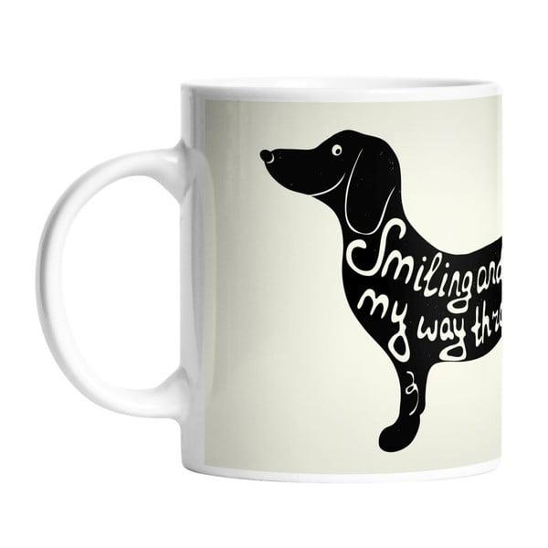 Ceramiczny kubek The Longest Dog, 330 ml