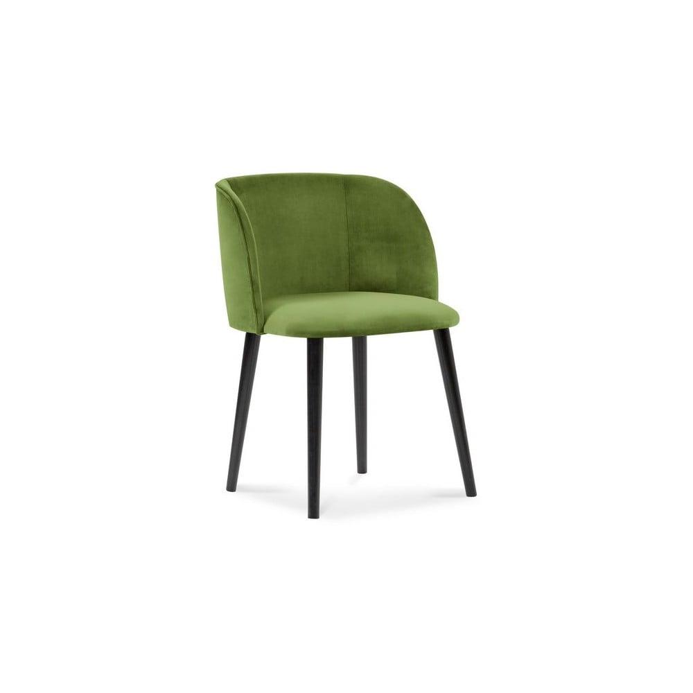Zielone krzesło z aksamitnym obiciem Windsor & Co Sofas Aurora