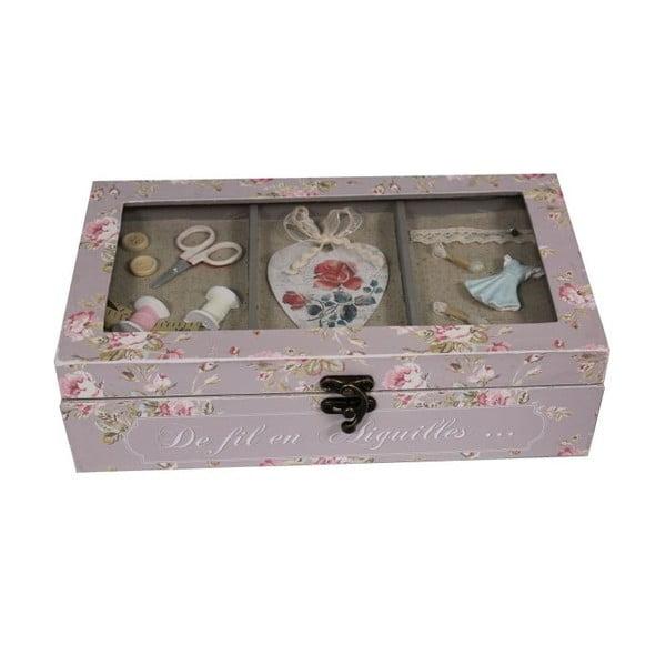 Pudełko na przybory do szycia Antic Line De Fil en Aigulles