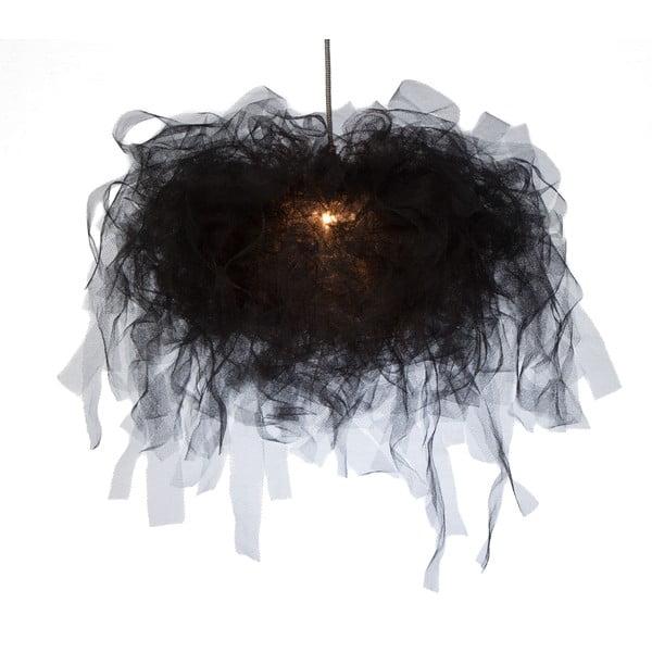 Żyrandol Ellen Munter L, czarny z czarnym kablem