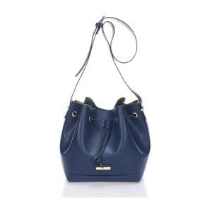 Skórzana torebka Krole Klara, niebieska
