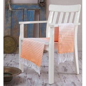 Pomarańczowy ręcznik Hammam Gokkusagi, 100x180cm