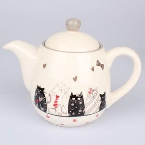 Ceramiczny dzbanek do herbaty Dakls Cats, 1 l