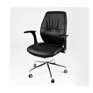 Krzesło biurowe na kółkach Icaro, czarne