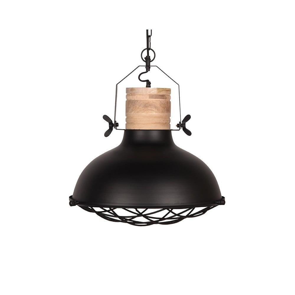 Czarna lampa sufitowa LABEL51 Grid, ⌀52cm