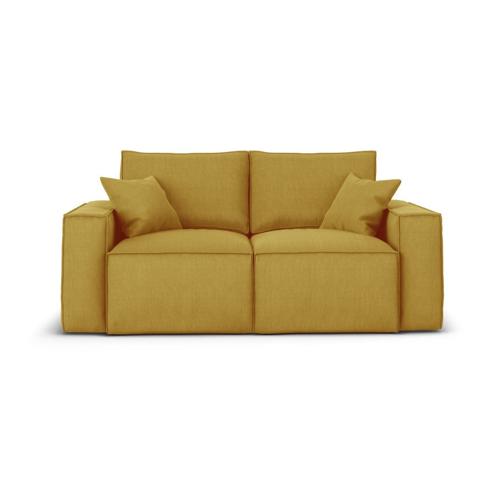 Żółta sofa 2-osobowa Cosmopolitan Design Miami
