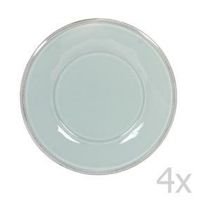 Zestaw 4 talerzyków deserowych Constance Sea Green, 23.5 cm