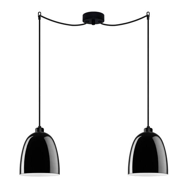 Lampa podwójna AWA Elementary black glossy/black/black