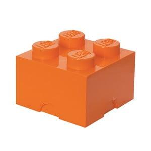Pudełko kostka, pomarańczowe