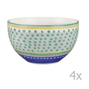 Komplet 4 misek porcelanowych Oilily 15 cm, zielony