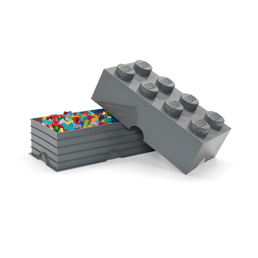 Ciemnoszary dziecięcy pojemnik LEGO® Rectangle