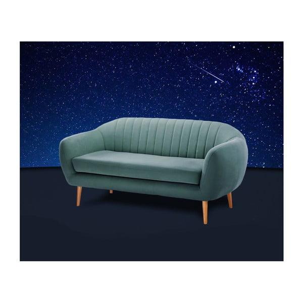 Turkusowozielona sofa 3-osobowa Scandi by Stella Cadente Maison Comete