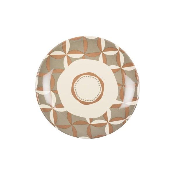 Zestaw 18 ceramicznych talerzy Pavé