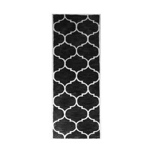 Dywan wełniany Florida Black, 78x244 cm