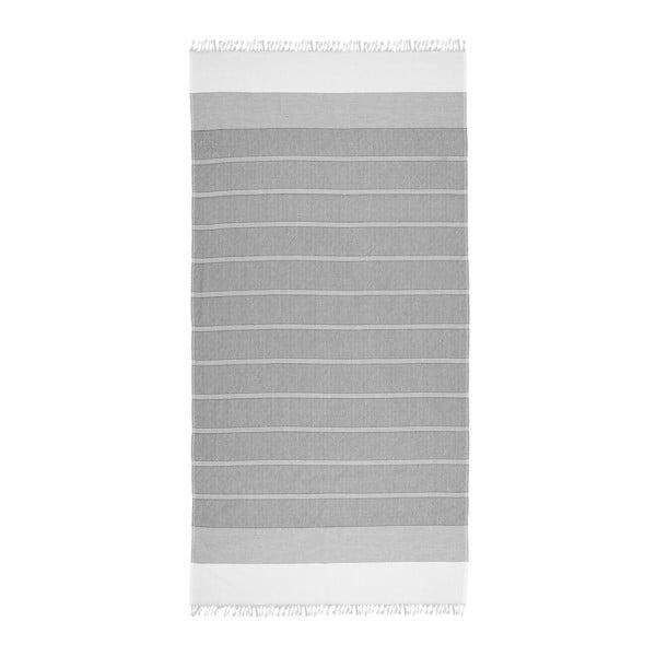 Ręcznik hammam Loincloth Line Black, 80x170 cm
