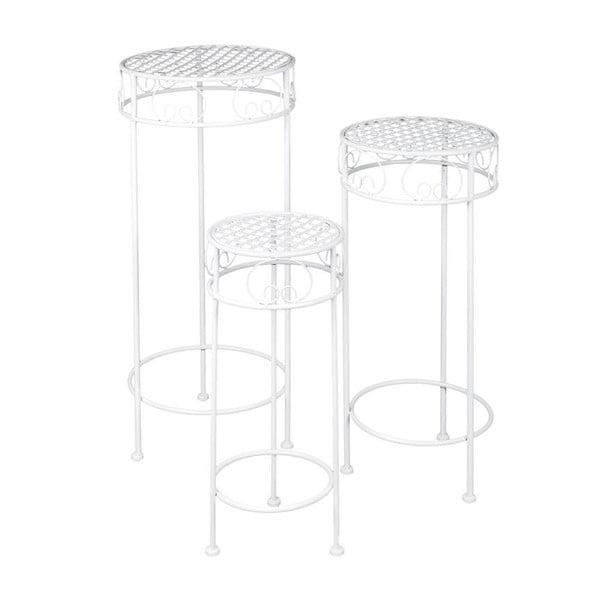 Zestaw 3 metalowych stolików Romantic