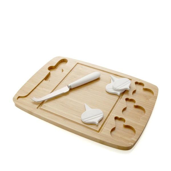Deska i nóż do krojenia serów Decouper