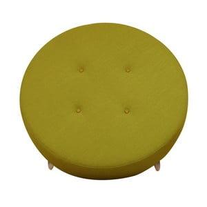 Żółty puf/stolik Helga Interiors Nolan