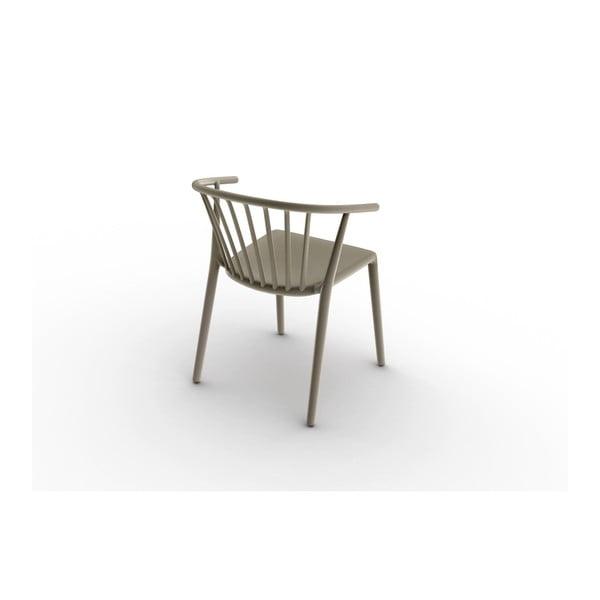 Zestaw 2 beżowych krzeseł ogrodowych Resol Woody