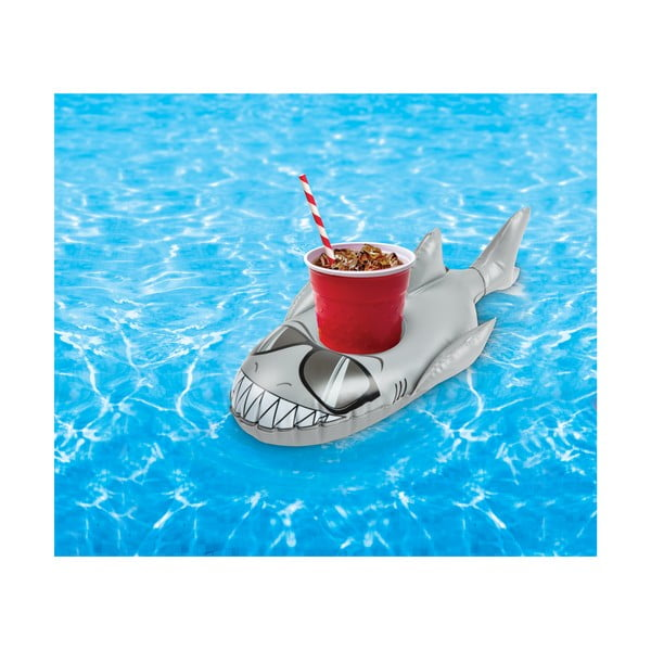 Zestaw 2 dmuchanych kółek na napoje w kształcie rekinów Big Mouth Inc.