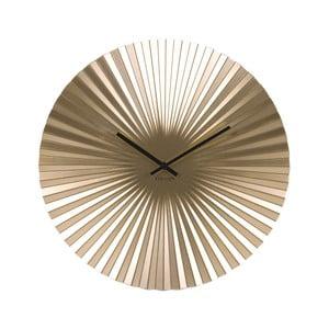 Zegar w kolorze złotym Karlsson Sensu, Ø 40 cm