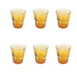 Zestaw 6 szklanek Kaleidos 360 ml, bursztynowy