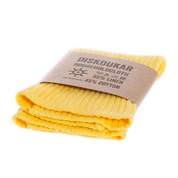 Żółta ścierka kuchenna Iris Hantverk