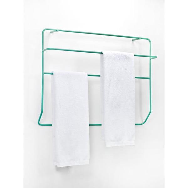 Zielony naścienny wieszak na ręczniki Serax Wally