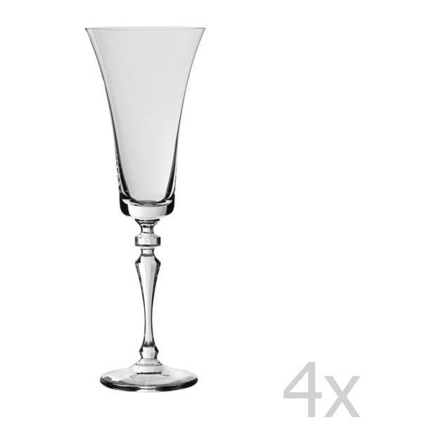 Zestaw 4 kieliszków Crystalline, 180 ml