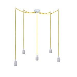 Pięć wiszących kabli Uno, żółty/biały