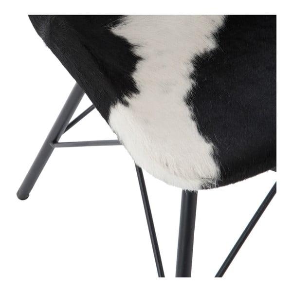 Krzesło   ze skórzanym obiciem Cross, czarno-białe