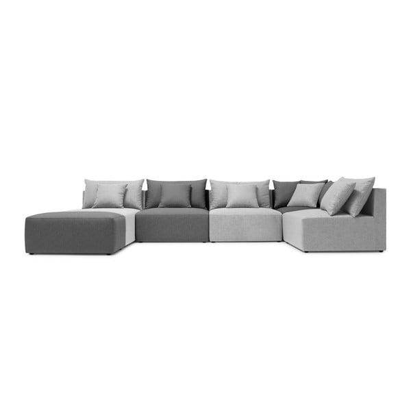Sofa w odcieniach szarości Bobochic Paris Metis