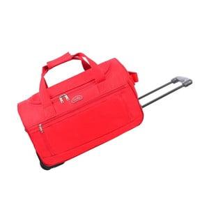 Czerwona torba podróżna na kółkach Hero,43l