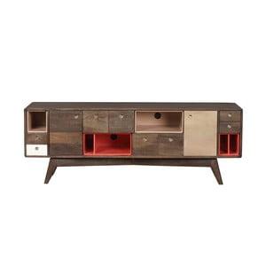 Szafka pod TV z litego drewna mangowca Woodjam Play Dark, 155 cm