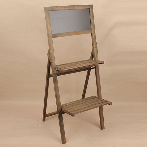 Drewniany stojak z tablicą Dakls, brązowy