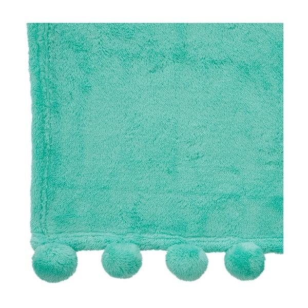 Pled Pom-Pom Mint, 130x170 cm