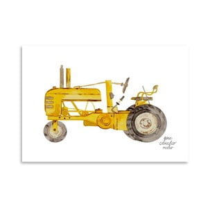 Autorski plakat Tractor, 30x42 m