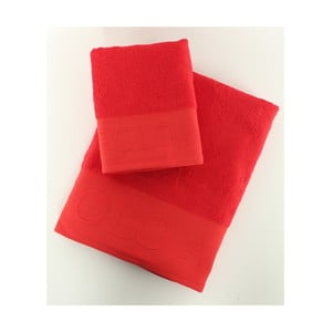 Komplet 2 ręczników Towel US Polo Red, 50x90 i 90x150 cm