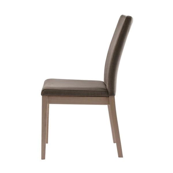 Zestaw 2 beżowych krzeseł z drewna dębowego Folke Svalbard