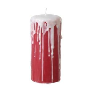 Czerwona świeczka Parlane Drips, wys. 15 cm