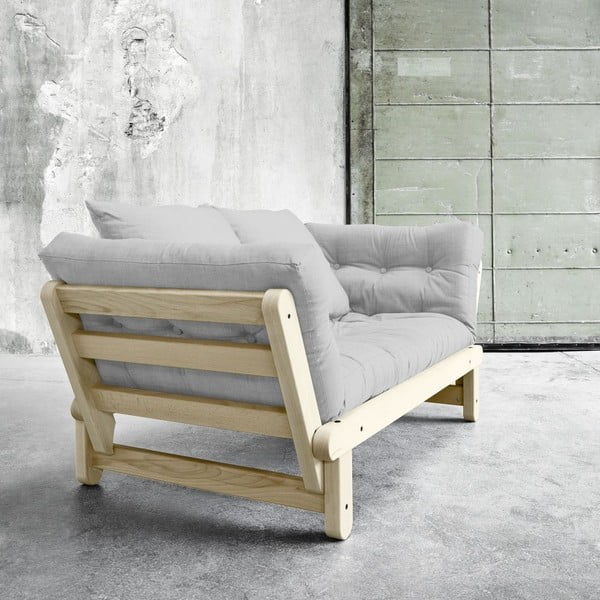 Sofa rozkładana Beat Natural/Light Grey