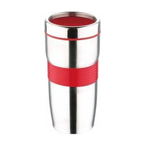 Czerwony kubek podróżny Bergner Viaggio, 450 ml