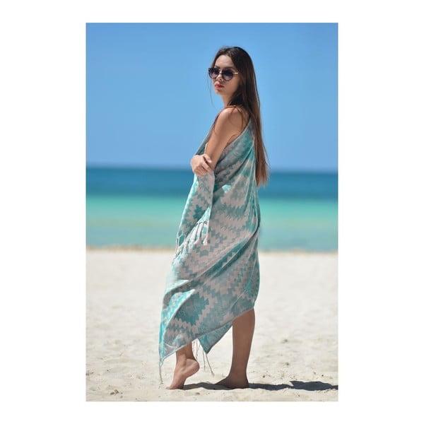 Ręcznik hammam Vive Green, 95x180 cm